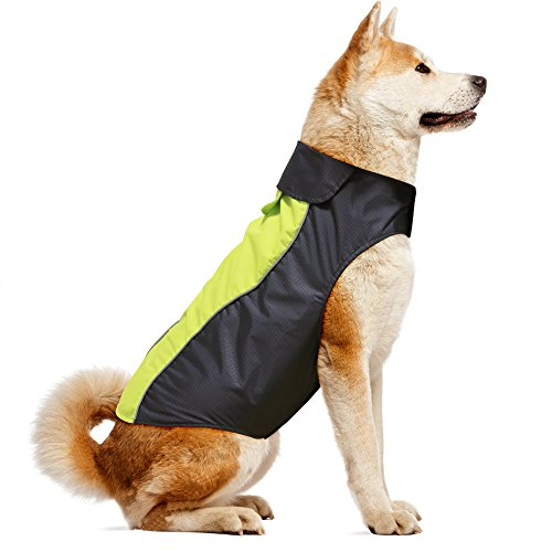 VIZPET Dog Raincoat Waterproof Lightweight & High Visibility Dog Coat Jacket