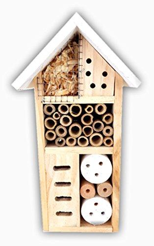 Insektenhotel für Wildbienen, Marienkäfer, Florfliegen, für Balkon, Garten, Insektenhotel für Wildbienen, Marienkäfer, Florfliegen, für Balkon, Garten, HxBxT: 26 x 13,5 x 8,5 cm , Holz,versch. Farben