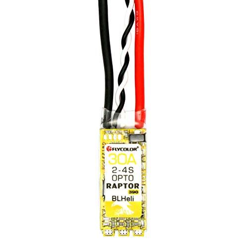 WOHAO Accessoires pour Consoles de Jeux Flycolor Raptor 390 30A 2-4S contrôleur de Vitesse électrique.