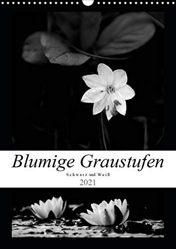 Blumige Graustufen - Schwarz und Weiß...