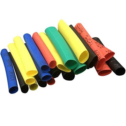 Preisvergleich Produktbild VILLCASE 656Pcs Schrumpfschlauch Elektrische Isolierung Wärmeschrumpfschlauch Elektrischer Draht Kabelwickel Schlauchwickel Elektrisches Kabel Drahtband