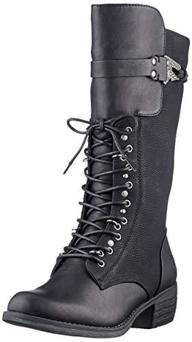 Rieker Damen 93163 Kniehohe Stiefel, schwarz, 37 EU
