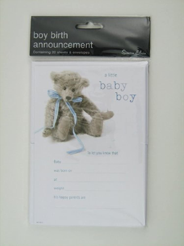 Simon Elvin 20 New Baby Boy Announcement by Simon Elvin
