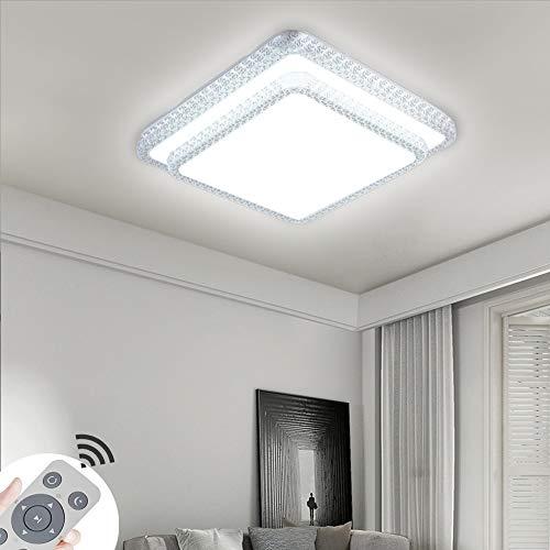 Deckenlampe LED 60W Dimmbar Kristall Plastik Deckenleuchte Quadrat Sternenlicht Lampe Kreative Energiesparlampe für Flur Wohnzimmer Schlafzimmer Küche Büro