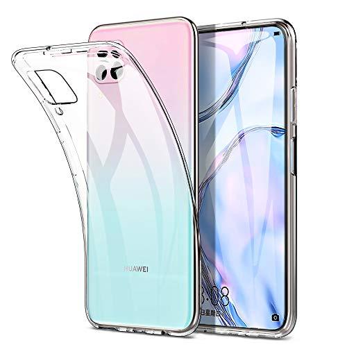 Yocktec Hülle für Huawei P40 Lite, Ultra-dünne weiche TPU Gel-Abdeckung Transparent Hülle [Kratzfest] [Stoßdämpfung] für Huawei P40 Lite Smartphone[Transparent]