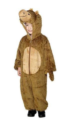 Smiffys Costume chameau, Marron, avec combinaison à capuche