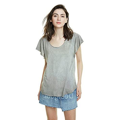 Desigual TS_Madrid Camiseta, Negro (ala De Mosca 2038), X-Small para Mujer