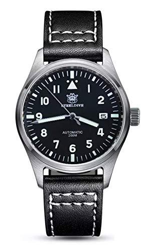 Steeldive SD1940 reloj piloto Mark XVIII Flieger, NH35, AR Zafiro, Lume, 200 m Diver, BNIB