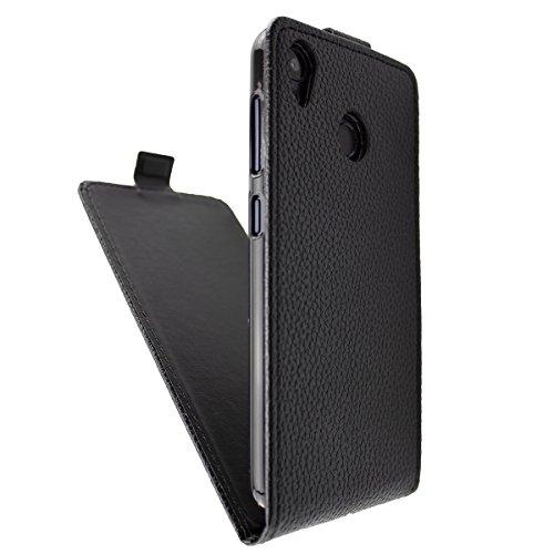 caseroxx Flip Cover für Gigaset GS185, (Flip Cover mit & ohne Bildschirmschutz) (Flip- Cover mit Bildschirmschutz, schwarz)
