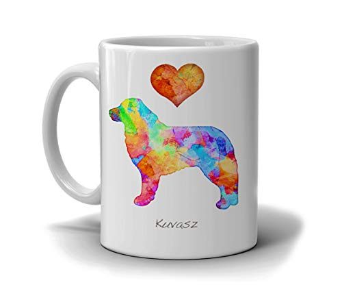 Thomas655 Koevasz-aquarel hondenkweekmok met dan Morris opties. Voeg hondennamen toe in een liefdevolle witte beker, gemaakt om te bestellen