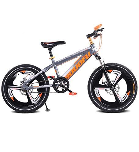 SJSF Y 16 Zoll Mountainbikes, Rennräder für Kinder All-in-One-Rad Scheibenbremse Stoßdämpfung Kids Cycling,Orange