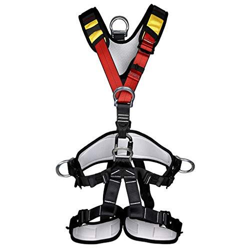 BJYX Vollkörper Auffanggurt Mit Brustschlaufen,Klettergurt,Mehrzweck Klettergurt Taille Hüfte Schutz Gürtel Für Bergsteigen Baumklettern
