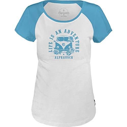 Alprausch Damen T-Shirt Abentür Basic Tee Weiß (XL)