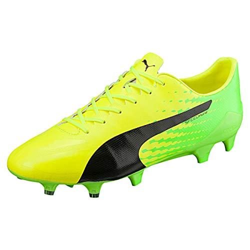Puma Evospeed 17 SL S Fg, Scarpe da Calcio Uomo, Giallo (Safety Yellow Black-Green Gecko 01), 45 EU