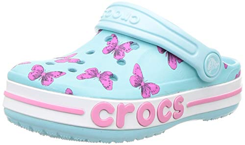 Crocs Unisex-Kinder Bayaband Seasonal Printed Cg K Freizeit Flip Flops Sportwear, Blau (Ice Blue), 32 EU