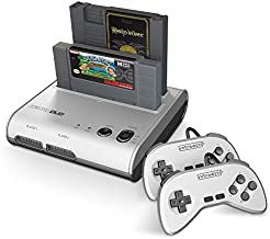 Retro-Bit Retro Duo 2 in 1 Console System - for Original NES/SNES, & Super Nintendo Games - Silver/Black