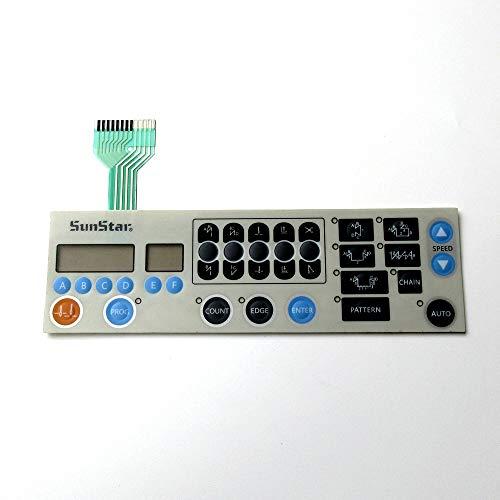 Membrana de panel de operación para máquina de coser Sunstar Km250