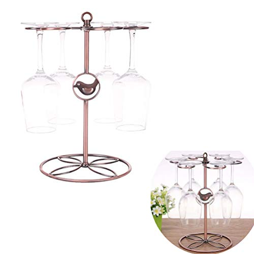 LYGAC Klassische Tabletop Weinglashalter Stemware Racks für Home/Bar Display mit 6 Weinglas Wäscheständer