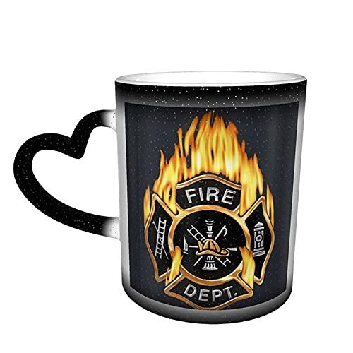 MENYUAN Taza de cerámica con diseño de bombero en el cielo para los amantes de la familia y amigos