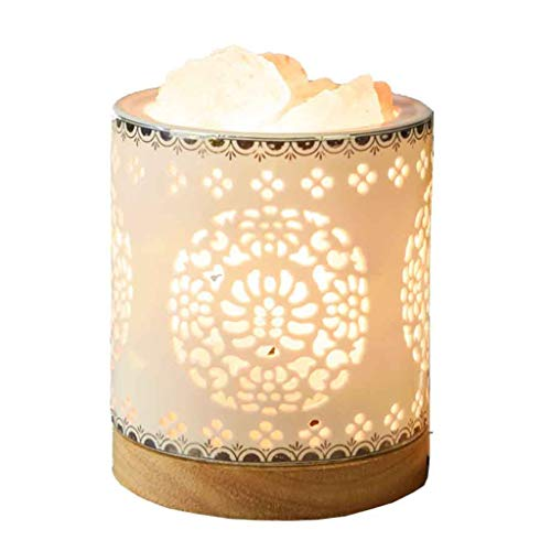 Luminaires & Eclairage/Luminaires intérieur/EC Lampe en Cristal de sel Lampe de Roche Naturelle Lampe de Lampe de Chevet Chambre Lampe de Chevet Veilleuse Veilleuse