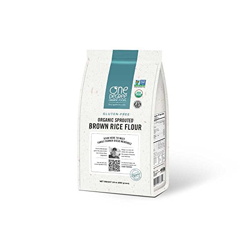 One Degree Organic Gluten-Free Sprouted Brown Rice Flour , 24 Ounce -- 6 per case.