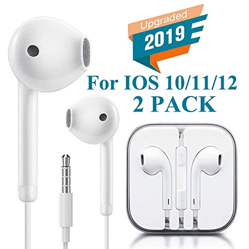 Earbuds 3.5mm Earphones Stereo Headphones Headset Built-in Microphone & Volume Control Compatible with iPhone 6/6S Plus/5/5S/4 iPad Plug and Play Microscope Lenses