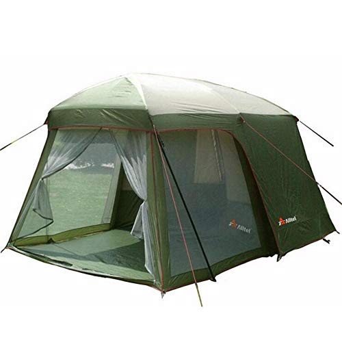 Générique ARONGBC Tente de Camping étanche Double Couche pour 4 ou 8 Personnes, Vert