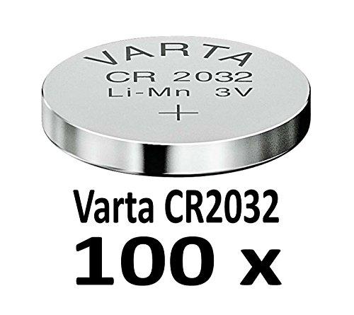10-1000 STK. (100 Stück) Variante frei wählbar Varta 2032 Knopfzelle
