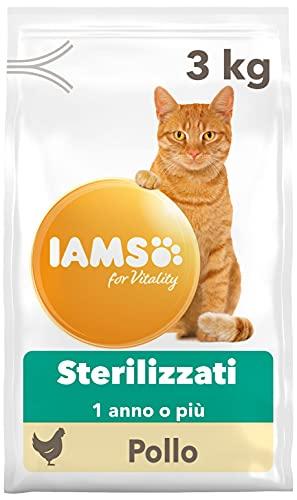 IAMS for Vitality Hairball Control, Alimento Secco contro i Boli di Pelo per Gatti Adulti e Anziani con Pollo Fresco - 3 kg