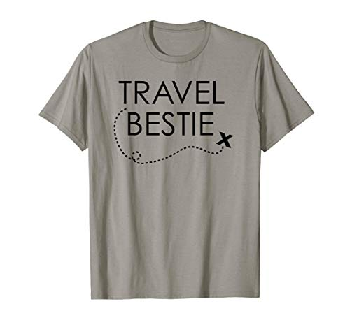Viajar Bestie Cute Vacation Viajar Mundo Amistad Camiseta