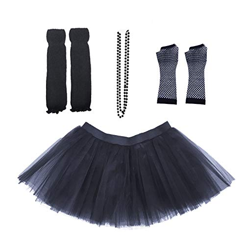 Dreamdanceworks 80s Costumes Accessories Set for Women Tutu Skirt