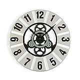 Versa Quilpie Reloj de Pared Silencioso Decorativo para la Cocina, el Salón, el Comedor o la Habitación, Medidas (Al x L x An) 60 x 4,5 x 60 cm, Madera y Metal, Color Blanco