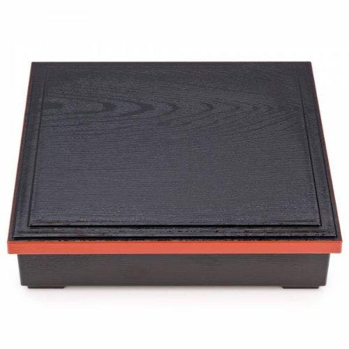 Japanse Zwart en Rood Lak Obento Lunchbox
