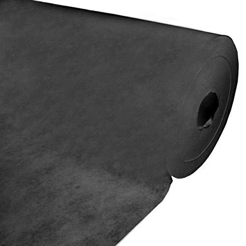 kissenwelt.de Vliesstoff Meterware, Polstervlies 160 cm Breit, (Polypropylen), Vlies-60g-fest, (schwarz, 60g / m²)