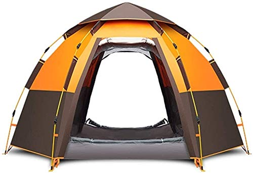 LAZ 5-8 Person Camping Tent Backpacking Tents Hexagon Waterproof Dome Automatic Pop-Up Outdoor Sports Tent Camping Sun Shelters,One Room