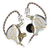 KZ ZS10 Pro In-Ear-Headset 4BA + 1DD Hybrid 10 Einheiten HiFi-Bass-Ohrhörer Sport Noise Cancelling-Ohrhörer (Ohne mic, Blendung Gold)