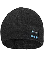 shentaotao Sombrero del Auricular De Bluetooth Casquillo del Knit Beanie Inalámbrica Estéreo Caliente Regalo De La Música Mujer Hombre Lavable Altavoz