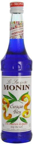 Monin Curacao Bleu (sin alcohol) - 3 botellas x 700 ml - Total: 2100 ml