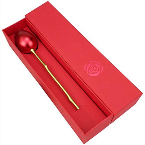 LKHF Bud Rose Simulation Fleur Créative Rose Forme Boîte À Bijoux Amour Confession Coffret Cadeau Ameublement Décoration Avec Support et Boîte Cadeau