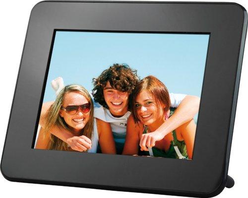 Rollei Pictureline 5080 Multimedia Digitaler Bilderrahmen (20,3 cm (8 Zoll) Display, Seitenverhältnis, Video/MP3-Funktion) schwarz