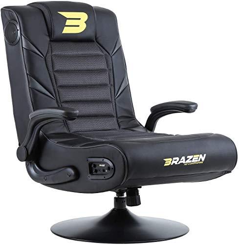 BraZen Panther Elite 2.1 Bluetooth Surround Sound Gaming Chair - Grey