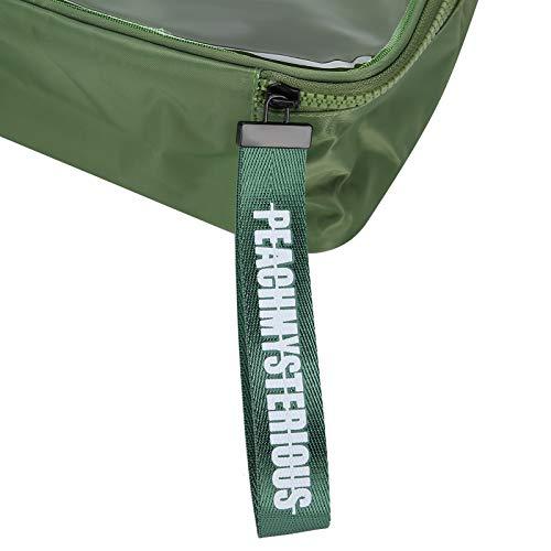 Estuche de maquillaje portátil 2 piezas Bolsa de almacenamiento de maquillaje para uso de viaje para uso doméstico para uso de maquillaje para almacenamiento(green)