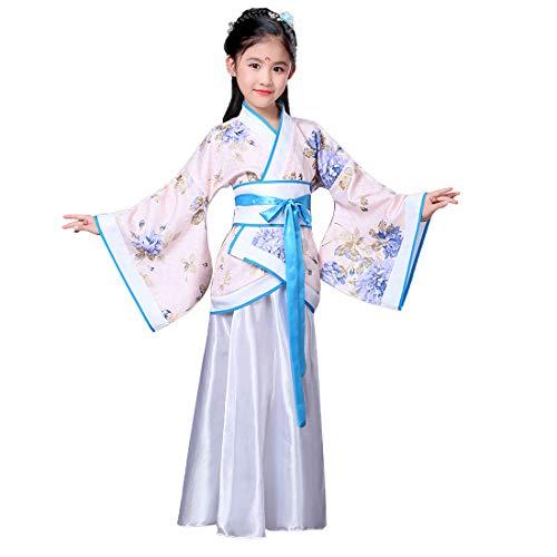 Huicai Conjuntos De Vestido Hanfu para Mujer Vestido De Princesa Estilo Chino Antiguo Disfraz De Mujer Elegante para Niña (Tops + Vestido + Cinturón)