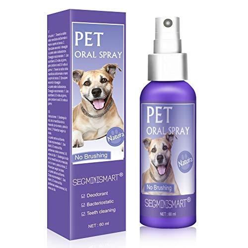 SEGMINISMART Dentalspray für Hunde und Katzen, Dental Care Spray, Zahnpflege und Zahnreinigung für Hunde und Katzen, Zahnsteinentferner & gegen Mundgeruch bei Hunden