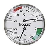froggit Saunathermometer Edelstahl Temperatur Luftfeuchte