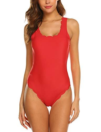 ADOME Damen einfarbig Badeanzug...
