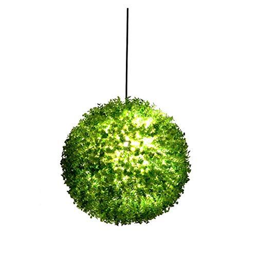Accesorio de iluminación Araña verde planta globo tema música restaurante tienda decoración artificial plantas colgante lámpara, colgante hierba bola luz led iluminación accesorio, para bar cafetería