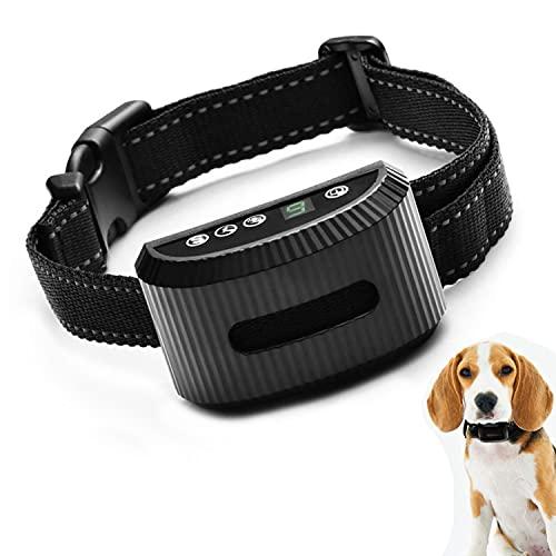 LPWCAWL Antibell Hundehalsband,Vibrations/Beep/Statischer Schock 3 Modi,USB Wiederaufladbares, Tragbares Wasserabweisend Bark Control Abschreckungs Black