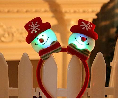 DYL&CDAI Vakantie decoratie Mooie Kerstman LED Licht Hoofdband Haarband Verlichting Dubbele Hoofd Kerstmis Decoratie Rood Nieuwe Jaren