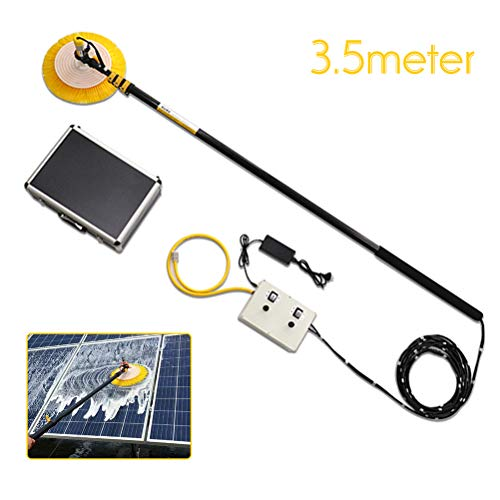 Electric Telescopic Cleaning Photovoltaic Panel Rod, Washing Set Equipment Extension Pole Cleaning Kit for Trucks Windows, Solar Panels, Window Cleaning,7.5m